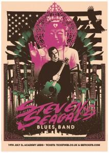 Steven Seagal Leeds Poster